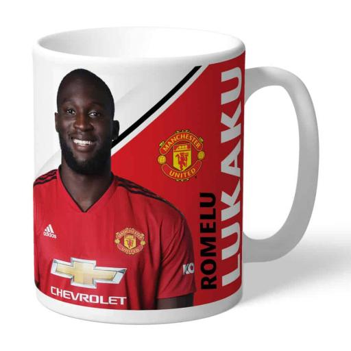Official Personalised Manchester United FC Lukaku Autograph Mug